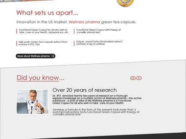 Online pharma  Website with One product