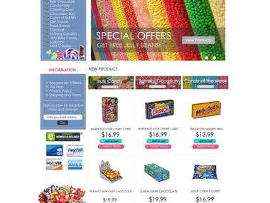 Volusion -  Online Candy Website.
