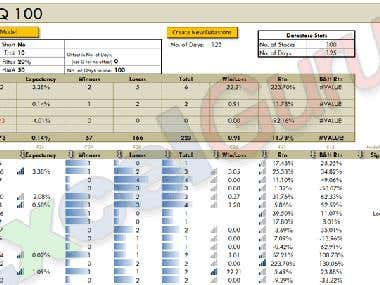 Reports powered by VBA.