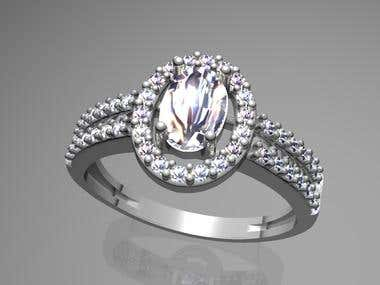 Lady Ring with oval diamond
