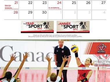 Volleyball Canada Calendar