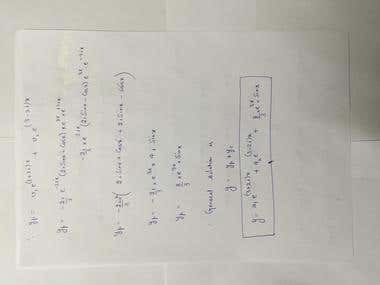 Differential Equation, Wronskian Method, LCR circuits