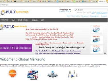 Open Cart Marketing Site