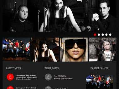 Website on Music