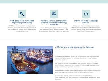 Developed a Wordpress site for Marine Renewable Service