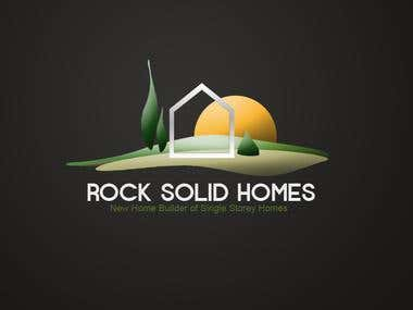 Logo Design for Rock Solid Homes