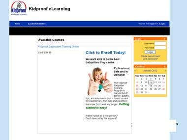 Kidproof eLearning System