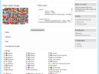CSS Flag Sprites
