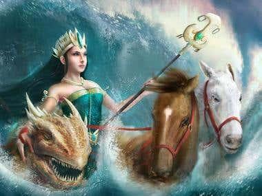Nyai Loro Kidu Queen of the Southern Sea of Java
