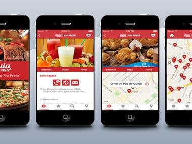 Restaurant apps on iOS and Android