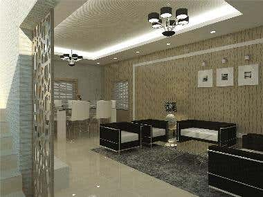 Dining / living Interior design.