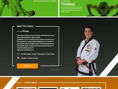 Website Design Mockup for Mixed Martial Arts Club