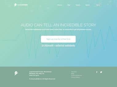 Landing Page for Online AudioBook Service