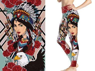 Illustrations for sublimation printing