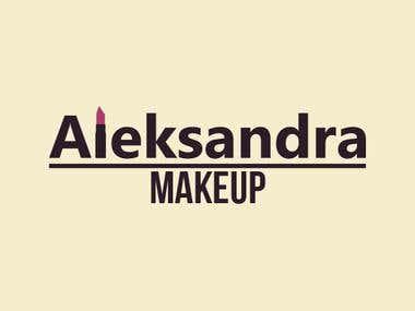 Aleksandra Makeup Logo
