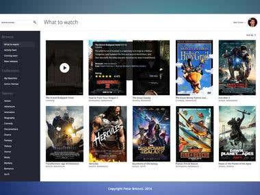 Movie app User Interface design