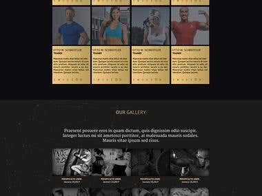 Fitness Time landing page