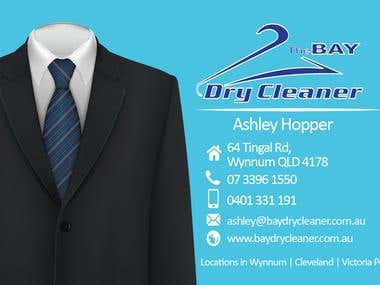 Business Card Design for Dry Cleaner