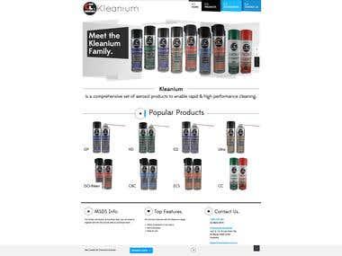 Branding Website for Kleanium