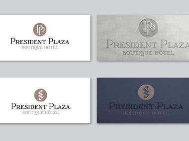 Logo design for President Plaza Boutique Hotel