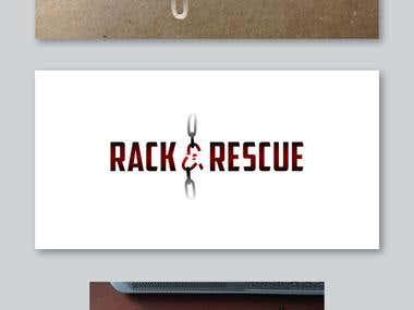 Rack and Rescue logo design