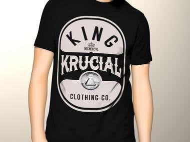 King Krucial TShirt Designs