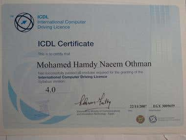 ICDL certified