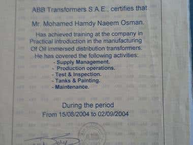 ABB Electric Transformers Training
