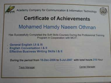 English technical writing and conversation certified