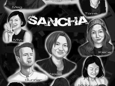 The illustration Sancha
