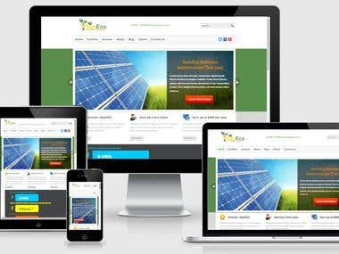 Web site Design and Development for solar Company