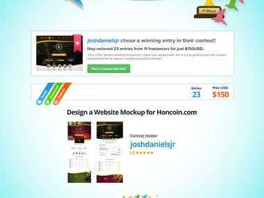 Design a Website Mockup for Honcoin
