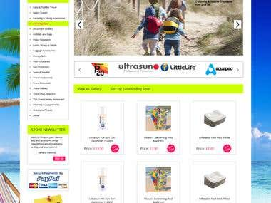 Design responsive eBay store front and setup in live