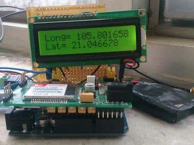 Module determines coordinates using SIM908
