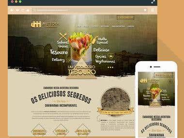 MeteoraShawarma Wordpress Website - One page Responsive