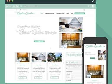 CynthiaGardens - WordPress Website / Clean, Responsive