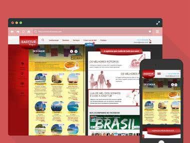 EasyTur Wordpress Website ( Resposinve and Custom )
