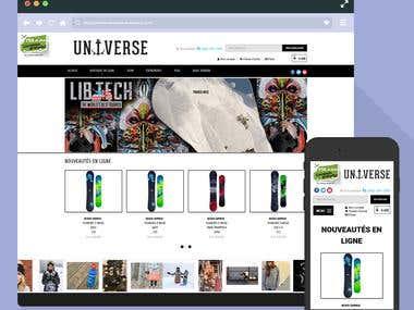 Universe Wordpress Website- Responsive/ Multi page