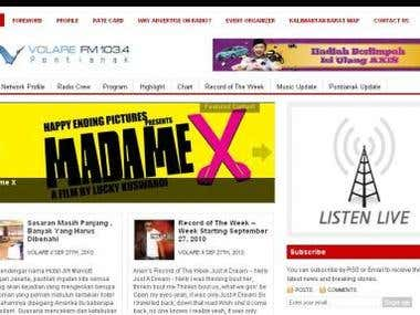 Portal Volare FM Radio Website (online)