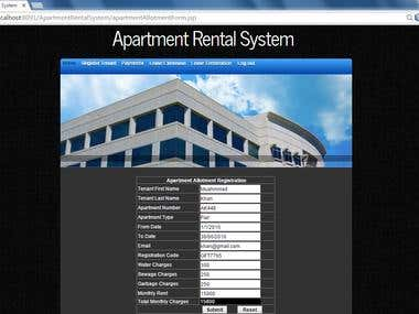 Apartment Rental System (JSP and MySQL Project)