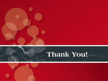 Corporate Thank You Card design