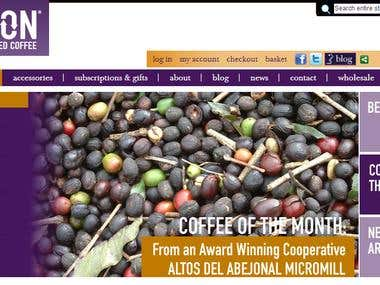 Magento - Tea and Coffee Products Ecommerce Website