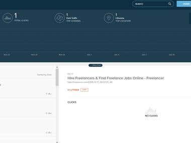 Custom desktop app for Bit.ly automatization