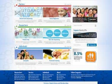 Sengenics Wordpress Corporate Website Design and Development