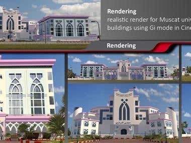 realistic modeling and rendering of medical university