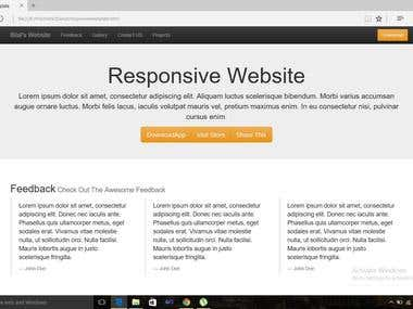 Responsive Template design Using Bootstrap