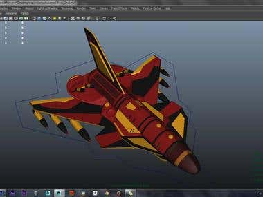 Jet Model For Game