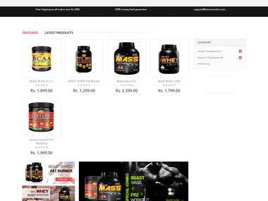 Magento eCommerce Website: beastmuscles.com