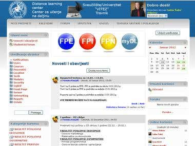 Distance learning system VITEZ University