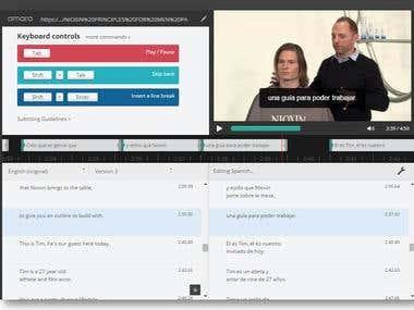 25 video hours Subtitling Work in Amara